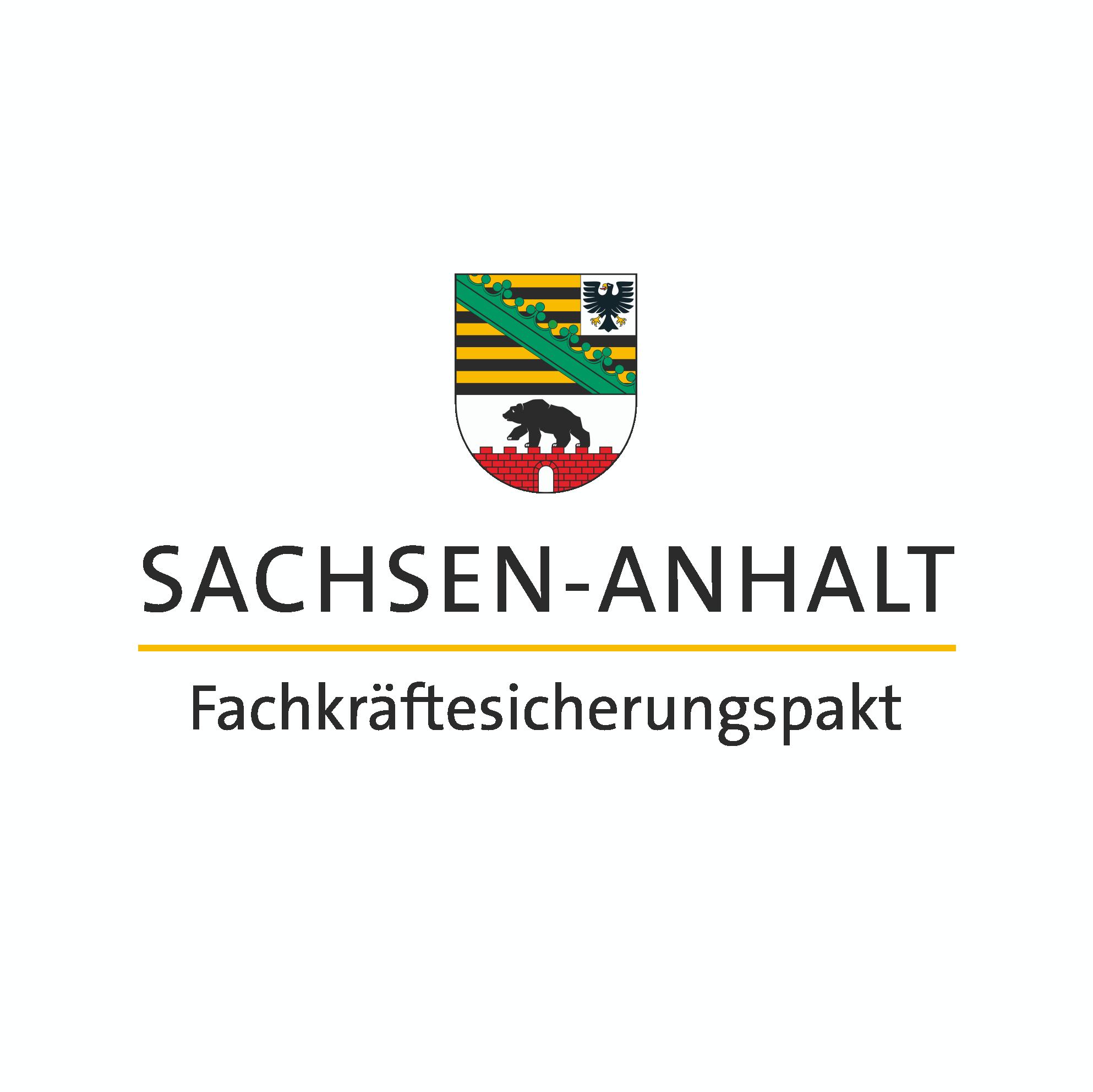 Sachsen-Anhalt-Logo mit Schriftzug Fachkräftesicherungspakt